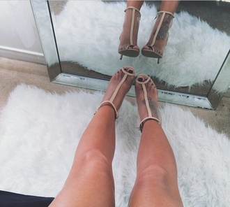 nude sandals strappy