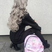 bag,yeah bunny,marble,pastel,pink,pinkmarble,backpack,travel