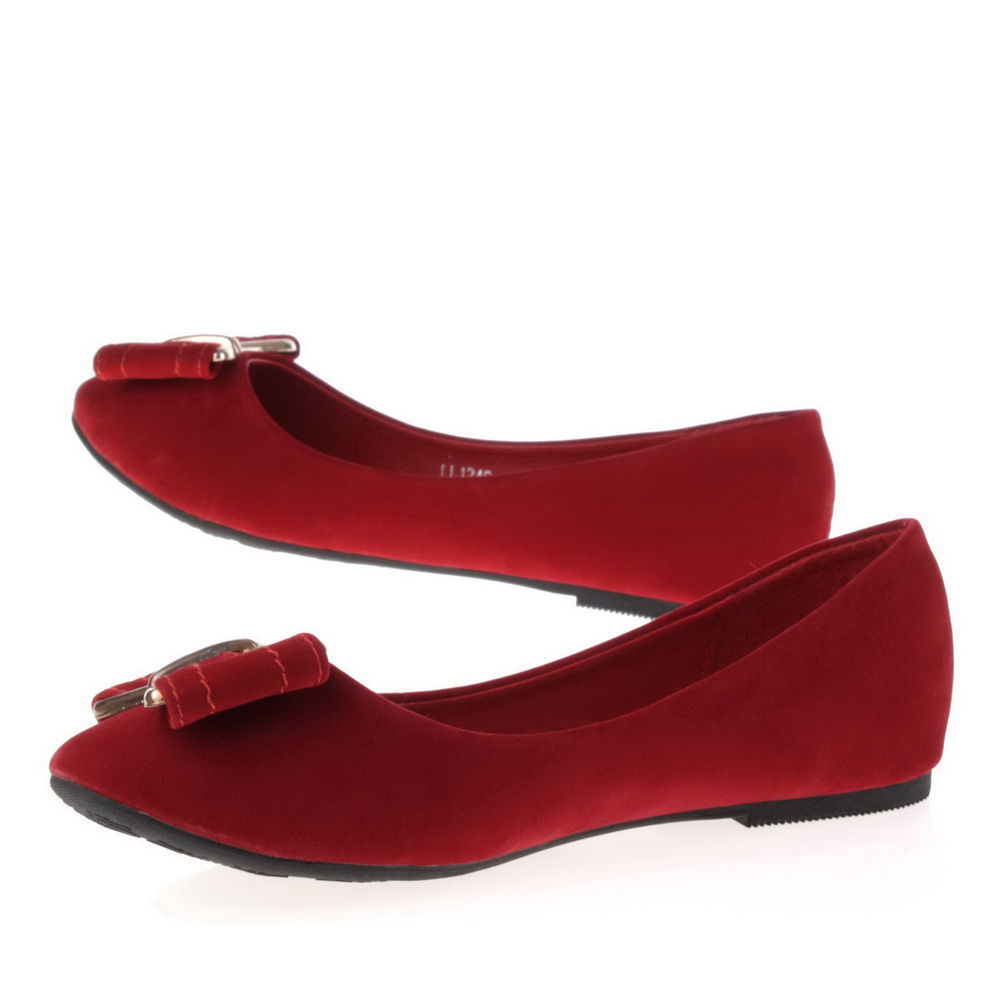 Süße ballerinas rot mit schleife