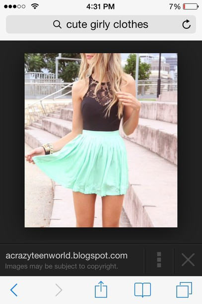 dress mint dress lace top