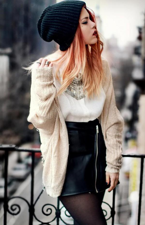 jewels cardigan top skirt