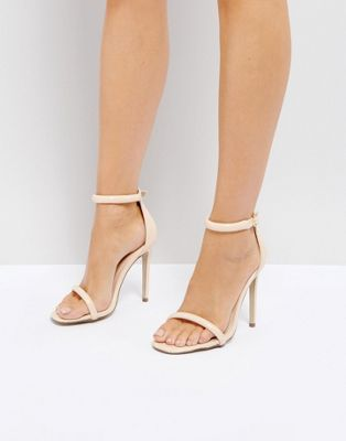 Missguided Barely There Ankle Strap Sandals at asos.com