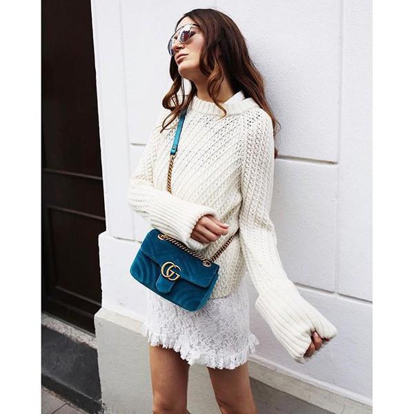 42631a2e9290f2 GG Marmont Mini velvet shoulder bag