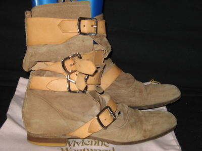 Westwood pirate boots grey suede 6/39!! â£370!!