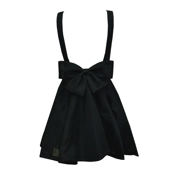 Two co lors blue  black fashion puff bow back dress · fe clothing · online store powered by storenvy