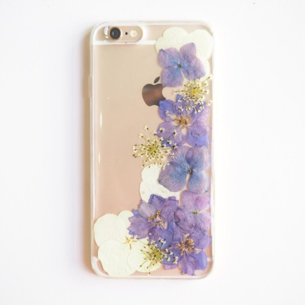 Phone Cover Shabibisheep Forher Forgirlfriends Cute Trendy Hydrangea Purple Bff Girls Generation Romantic Handmade Etsy Special