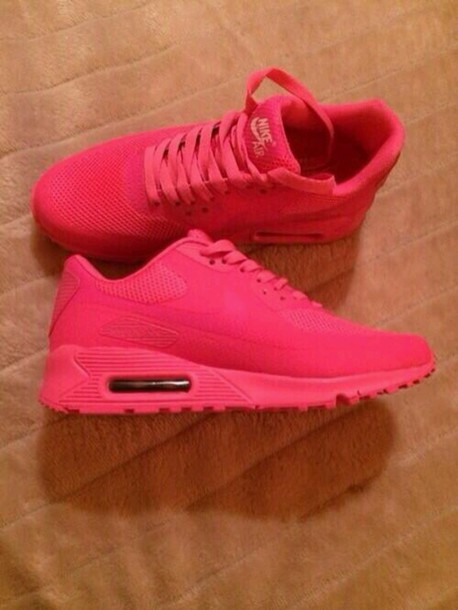shoes, nikes, air max, air max, rouge, pink nike air max