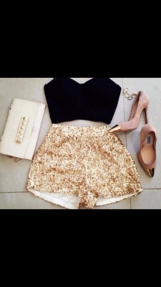 bag nude classical shorts top shoes