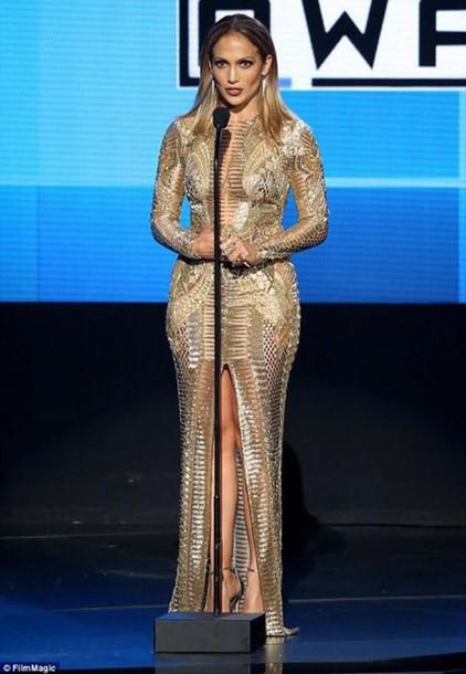 Dress Sexy Dress Sexy Jennifer Lopez Celebrity Style Celebrity Style Bodycon Dress Bodycon Gold Gold Dress Wheretoget