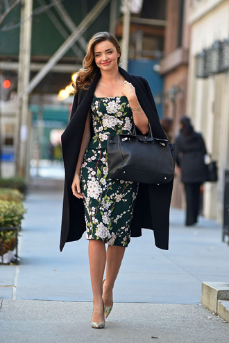 dress miranda kerr floral dress