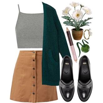 skirt beige skirt button up skirt