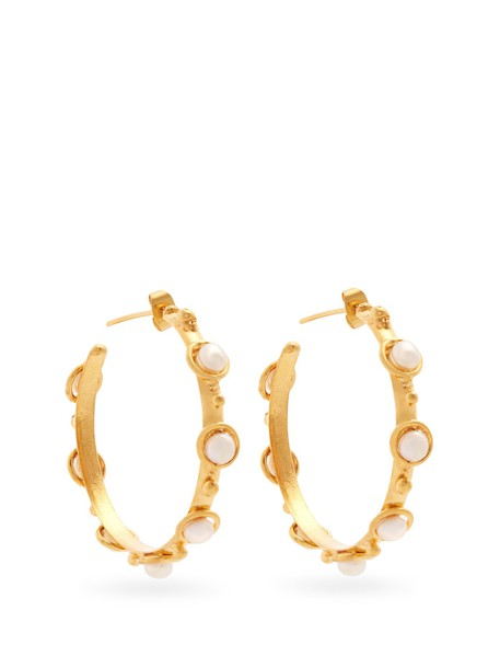 Sylvia Toledano earrings gold pearl jewels