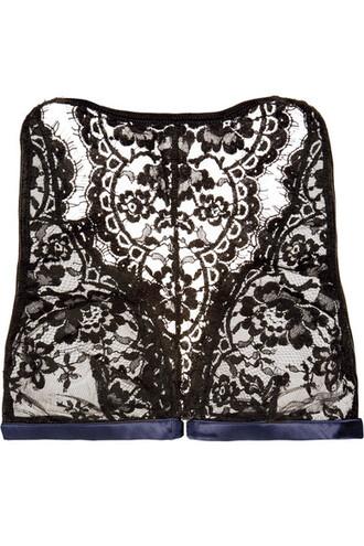bra soft lace blue satin underwear