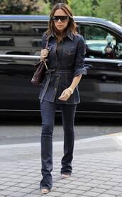 jeans,denim,denim jacket,celebrity,victoria beckham,skinny jeans
