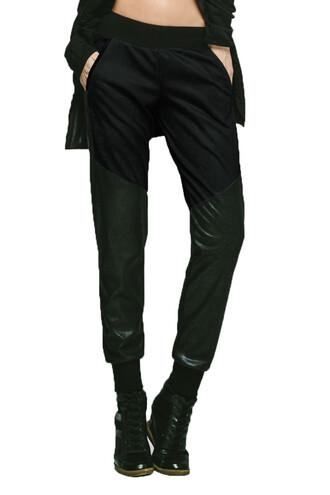 pants black michi sweatpants bikiniluxe