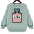 Bottle Patch Bow Sweatshirt