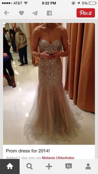 glitter prom dress mermaid sequins long dress