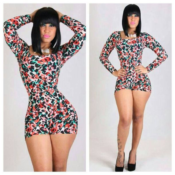 49a8ad38d489 romper floral long sleeve romper tight pattern long sleeves