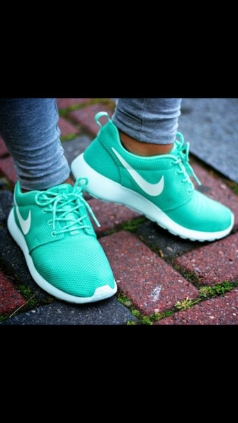 shoes nike roshe run nike roshes blue nike running shoes seafoam roshe runs blue nike nike roshe run turquiose white details white swoosh nike shoes nike roshe run running shoes leggings green low top sneakers green sneakers mint athletic nike roshe run tropical twistt