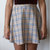 Tan & Ivory Tartan Skater Skirt (Made to Order)