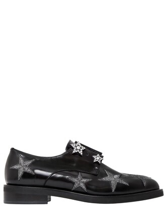leather shoes shoes leather stars black