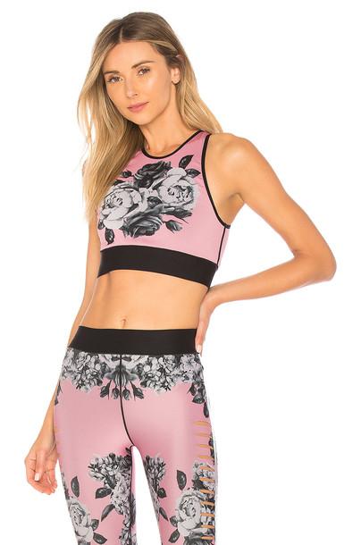 bra sports bra pink underwear