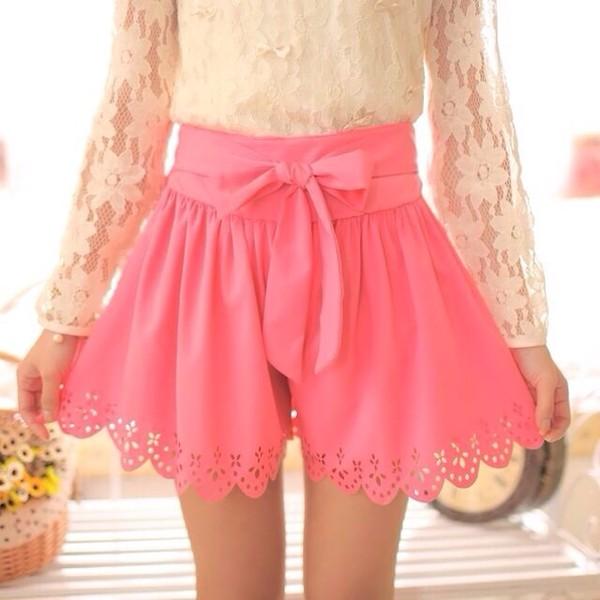 shorts spring outfits pink shorts