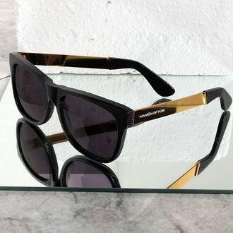 sunglasses maniere de voir eyewear versailles gold sna snake embossed