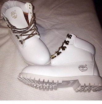 shoes white lace white white shoes timberlands