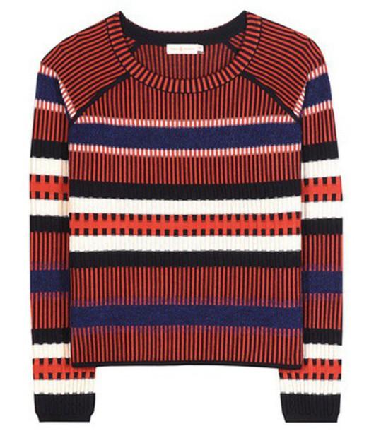 Tory Burch Monterey Striped Wool-blend Sweater