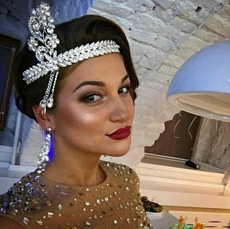 hair accessory flapper the great gatsby headband jeweled