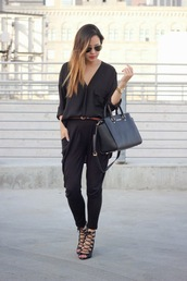 marilyn noir,blouse,pants,shoes,jewels,bag