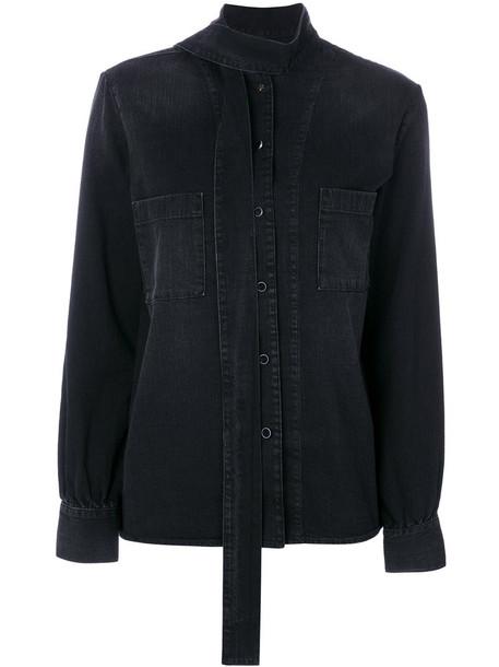 Golden Goose Deluxe Brand - Chicago denim shirt - women - Cotton - L, Black, Cotton