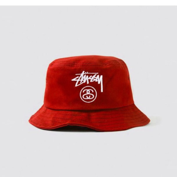 hat stussy bucket hat bape nike red style all red wishlist f94b0ce5fd6