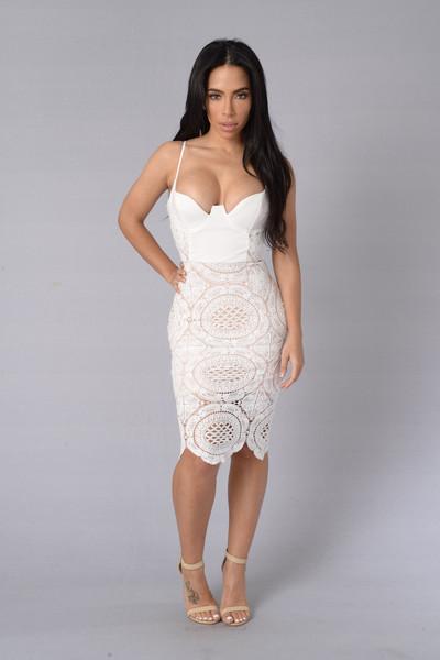 Secret Admirer Dress - White XSMALL | Fashion Nova