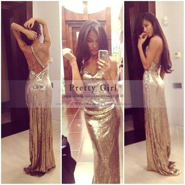 Aliexpress.com : buy 2015 vestido de festa sexy v neck bandage back gold lace sequined long mermaid evening party dress sparkly special occasion gown from reliable gown purple suppliers on pretty girl trade co., ltd