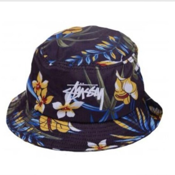 stussy bucket hat navy - 665×665