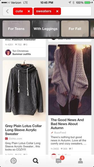 sweater oversized sweater knitwear grey charcoal