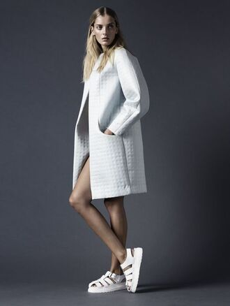 jacket white trench coat sports luxe white coat