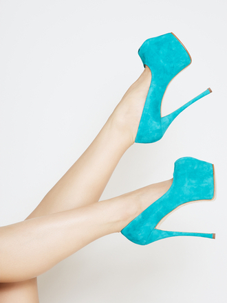 shoes teal cute high heels pumps sexy