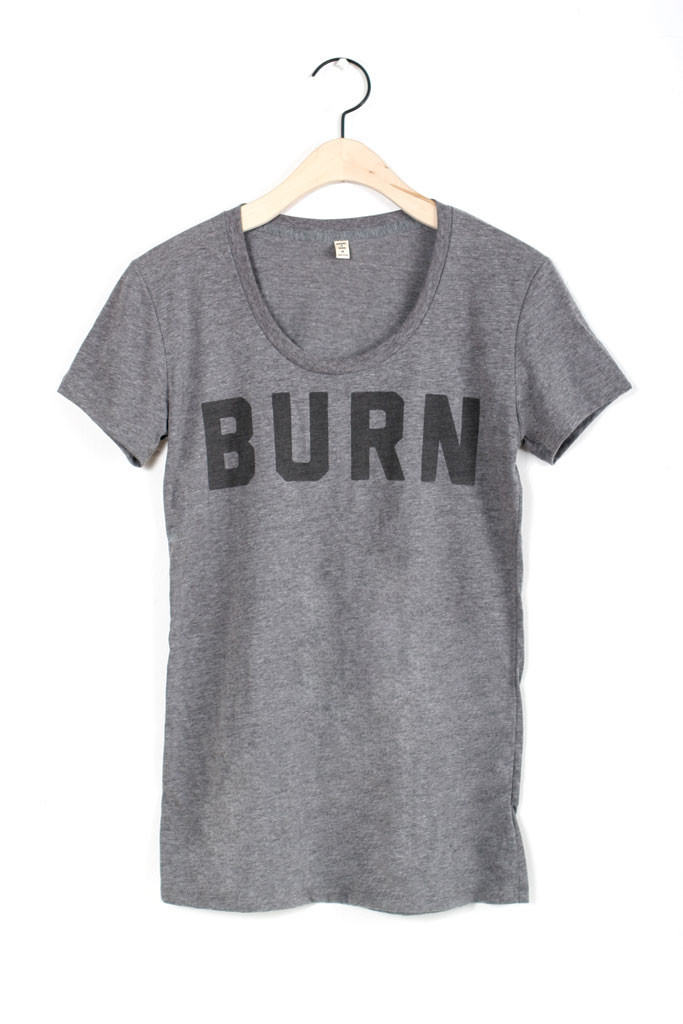 BURN Scoop Tee Dark Heather - Bridge & Burn