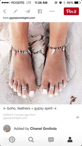 jewels anklet hippie summer boho bohemian braclet white jeans spring sand style ring toe jewelry hair accessory
