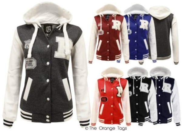 jacket ladies bomber jacket hoodie pockets sportswear buttoned coat stripes retro r varsity baseball jacket streetstyle
