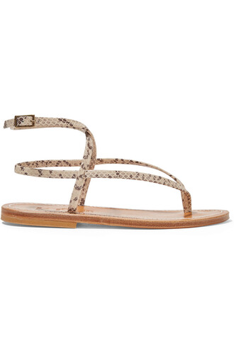 snake sandals leather sandals leather print snake print shoes