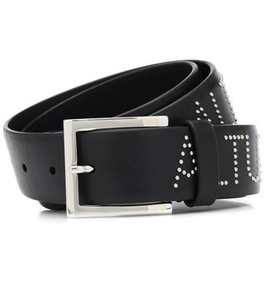 Altuzarra Studded leather belt in black