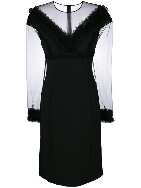 dress lace dress women fit lace cotton black