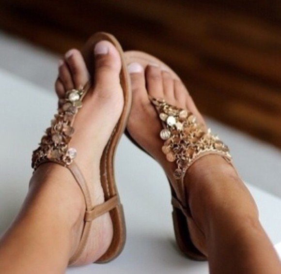 shoes flat sandals sandals gold sandals summer shoes