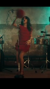 dress,red dress,red,fringes,fringed dress,havana,camila cabello,charts,music video,Fifth Harmony