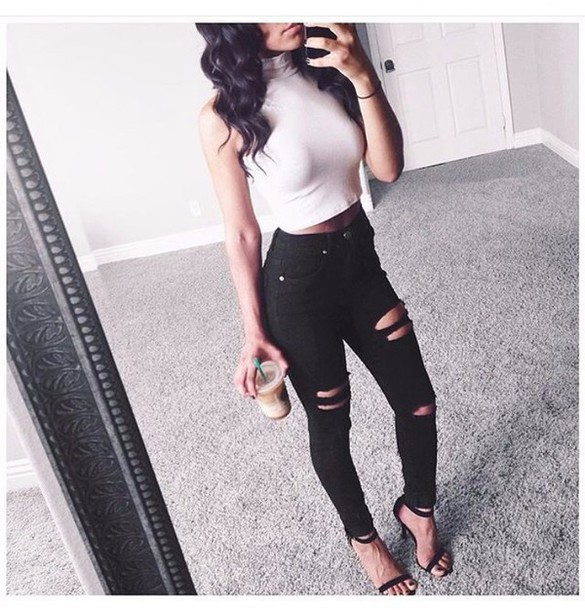 cute outfits with ripped skinny jeans bbg clothing
