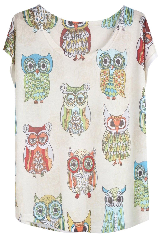 Shirt (one size, white) at amazon women's clothing store: